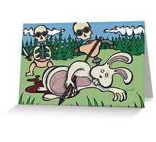 Teddy Bear And Bunny - Baby Doll Robot Killers Greeting Card