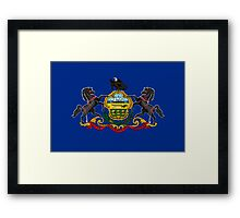 Pennsylvania, Flag, States of the Union, USA, America Framed Print