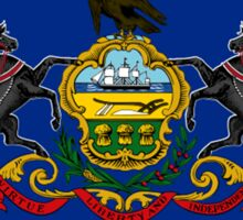 Pennsylvania, Flag, States of the Union, USA, America, American, US Sticker