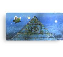 UFO Alien Pyramid Painting Canvas Print