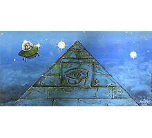 UFO Alien Pyramid Painting Photographic Print