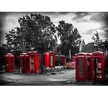 The Phonebox Graveyard Photographic Print