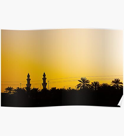 Morning Mosque Poster