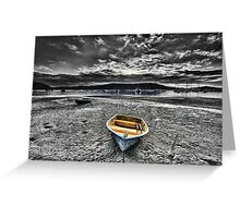 When The Tide Goes Out Greeting Card