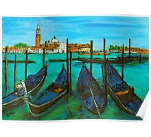 Quattro Gondola, Venice Poster