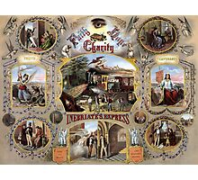 Inebriate's Express -- Vintage Temperance Poster Photographic Print