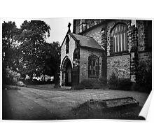 St Albans, West door porch  Poster