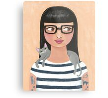 Modern Cat Lady Metal Print