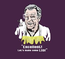 "Walter Bishop - ""Excellent! Let's make some LSD! for Dark Tees"""" Womens Fitted T-Shirt"