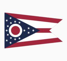 Ohio, Flag, Buckeye State, States of the Union, America, American, USA One Piece - Short Sleeve