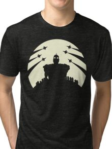 The Giant and the moon. Tri-blend T-Shirt
