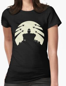 The Giant and the moon. Womens Fitted T-Shirt