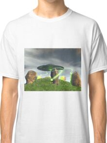 UFO and Ancient Stone Circle Classic T-Shirt