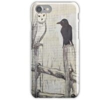 Owl and Raven  iPhone Case/Skin