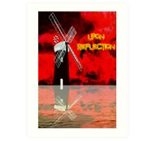 Horsey Drainage Mill, Norfolk Broads Upon Reflection, Art Print