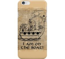 Boat Expedition,Ship Excursion,Music Crew,Vintage Ink Dictionary Art iPhone Case/Skin