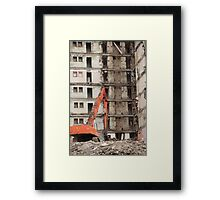 building demolition Framed Print