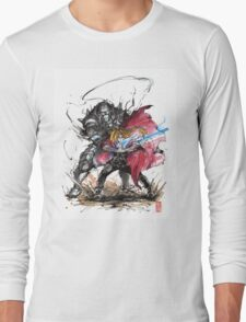 Tribute to Elric Brothers from Fullmetal Alchemist Long Sleeve T-Shirt