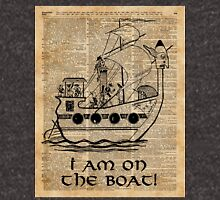 Boat Expedition,Ship Excursion,Music Crew,Vintage Ink Dictionary Art Unisex T-Shirt