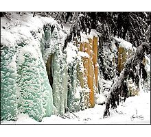 Smart's Brook Ice Fall Photographic Print
