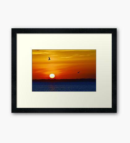 Red, Orange & Blue Framed Print