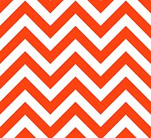 zigzag chevron pattern in orange color by nadil