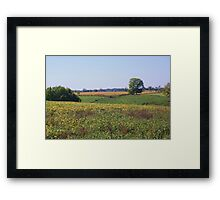 INDIANA FARMLANDS Framed Print