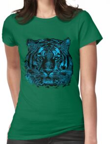 Tiger Face Close Up Womens Fitted T-Shirt