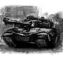 Challenger tank by olivercook