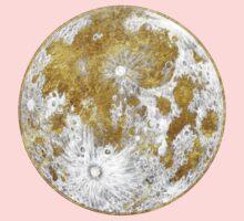 Golden Moon Pattern Kids Tee