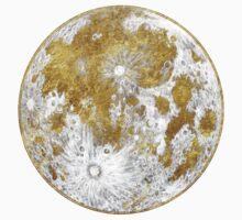 Golden Moon Pattern One Piece - Short Sleeve