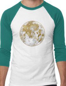 Golden Moon Pattern Men's Baseball ¾ T-Shirt