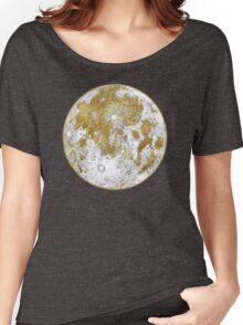Golden Moon Pattern Women's Relaxed Fit T-Shirt