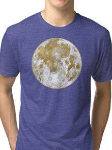 Golden Moon Pattern Tri-blend T-Shirt