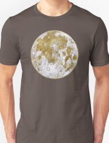 Golden Moon Pattern T-Shirt