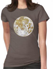 Golden Moon Pattern Womens Fitted T-Shirt