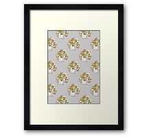 Golden Moon Pattern Framed Print