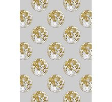 Golden Moon Pattern Photographic Print