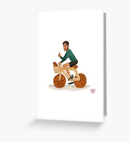 Tamal and his Bread-cycle! Greeting Card