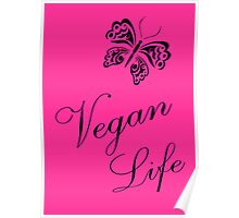 Vegan Life in Pink Poster