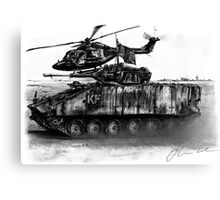 Warrior and Lynx, Iraq Canvas Print