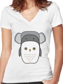 Animals tetris Women's Fitted V-Neck T-Shirt