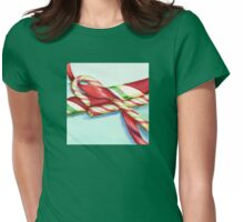 Candy Canes Womens Fitted T-Shirt