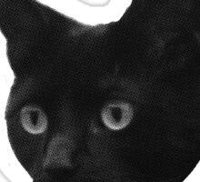 Black Cat Club - Henry Face Sticker