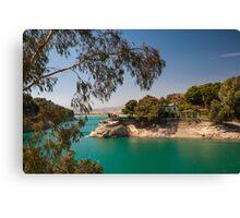 Emerald Lake with Duke House. El Chorro. Spain Canvas Print