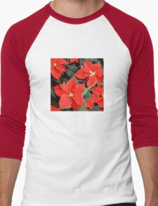 Beautiful Red Poinsettia Christmas Flowers T-Shirt