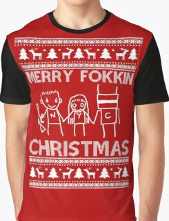 Chappie Christmas Graphic T-Shirt