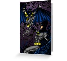 Batman vs Batman Greeting Card
