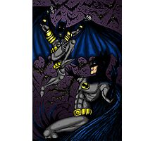 Batman vs Batman Photographic Print