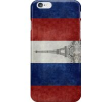 Vintage national flag of France with Eiffel Tower insert iPhone Case/Skin